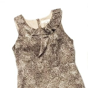 Ann Taylor Loft Brown Rock Print Dress Size 10